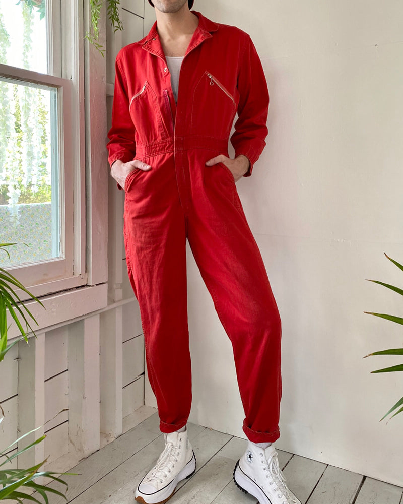 50s Red Workwear Coveralls