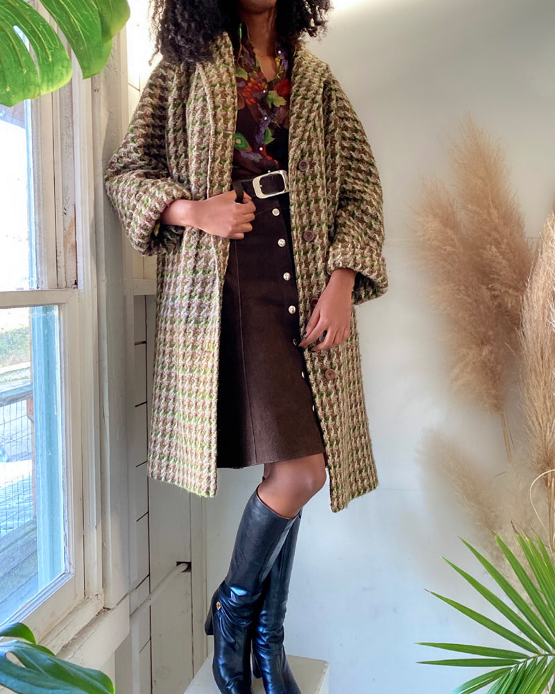 60s Aquascutum Tweed Wool Coat