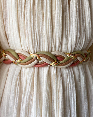 80s Braided Fabric Belt