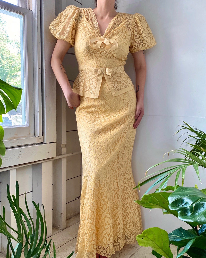 30s Lace Gown