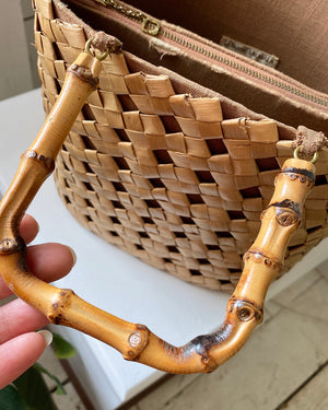 40s Bamboo Basket Purse