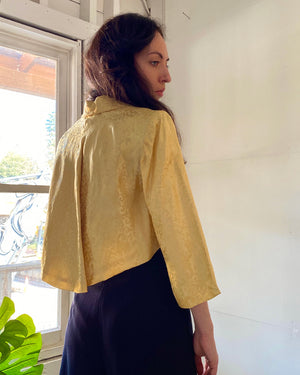 40s Silk Brocade Evening Jacket