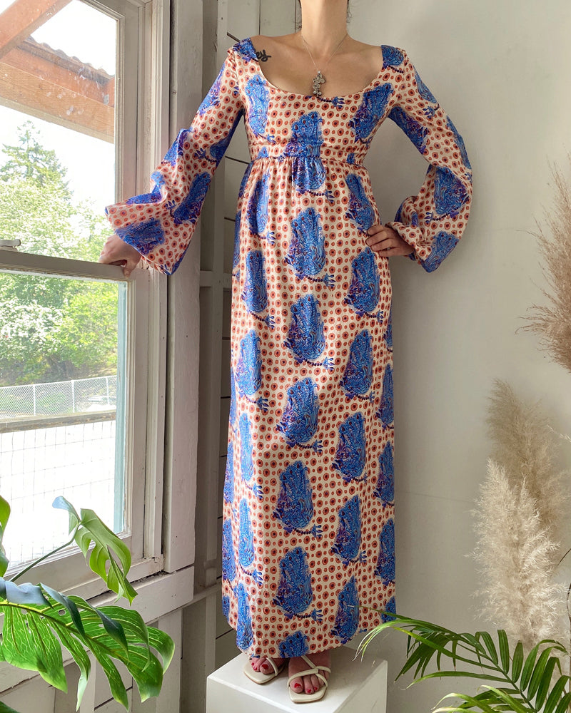70s Colin Glascoe Silk Maxi