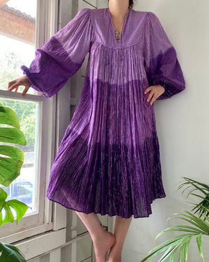 70s Indian Cotton Gauze Dress