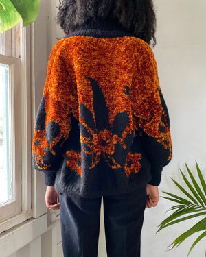 90s Chenille Hand Knit Cardigan