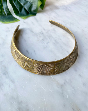 70s Brass Choker Necklace