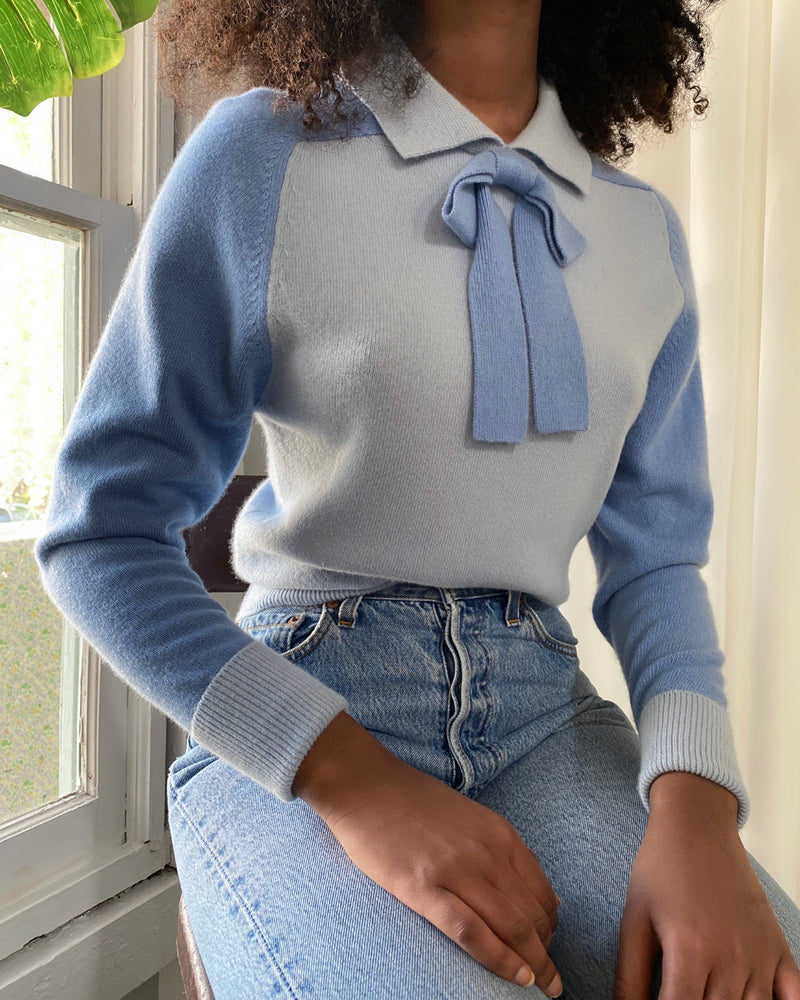 90s Chanel Cashmere Bow Sweater