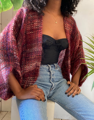 80s Mohair Shawl Sweater