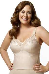 Elila 5001 Embroidered Microfiber Longline Softcup Nude