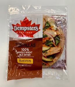 Dempster's Tortillas 10in whole wheat