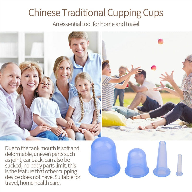 4Pcs Anti Cellulite Vacuum Cups - Gadget Homez