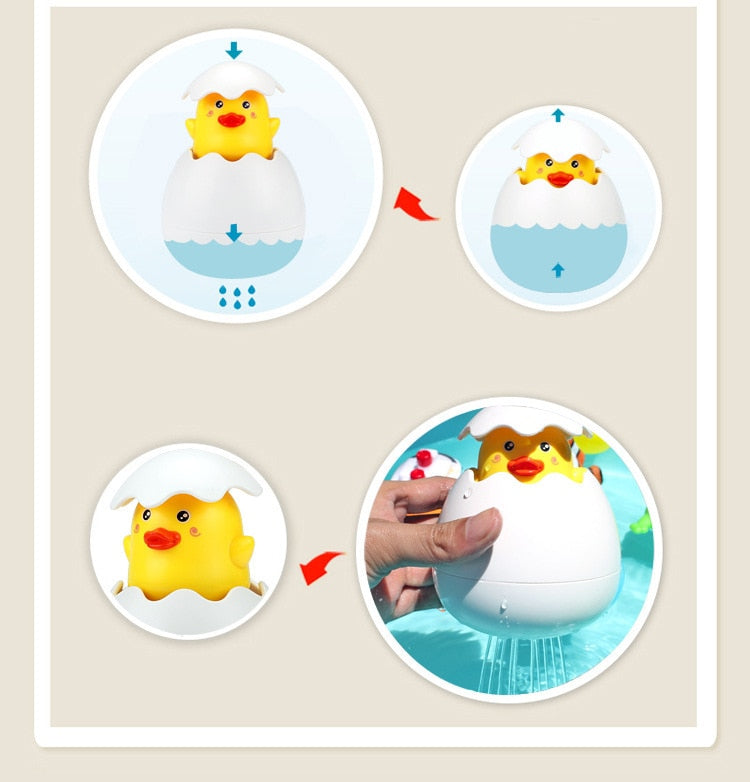 Swimming Duck Penguin Egg Water Spray Funny Toy - Gadget Homez