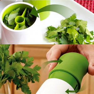 Herb Grinder Spice Mill Parsley Shredder Chopper - Gadget Homez