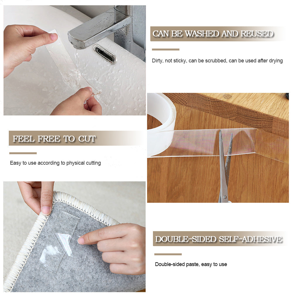 Transparent Nano Magic Double Sided Waterproof Adhesive - Gadget Homez