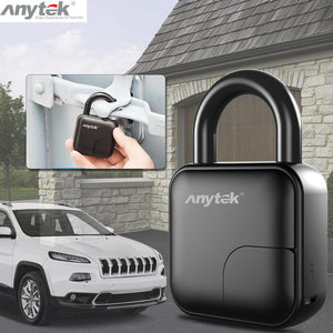 Waterproof USB Rechargeable Smart Keyless Fingerprint Padlock - Gadget Homez