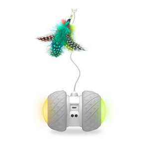 USB Rechargeable LED Glowing Car Toy With Feather - Gadget Homez