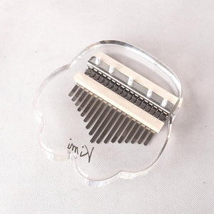 Transparent Kalimba Thumb Piano Cute Cat Claw Shaped - Gadget Homez