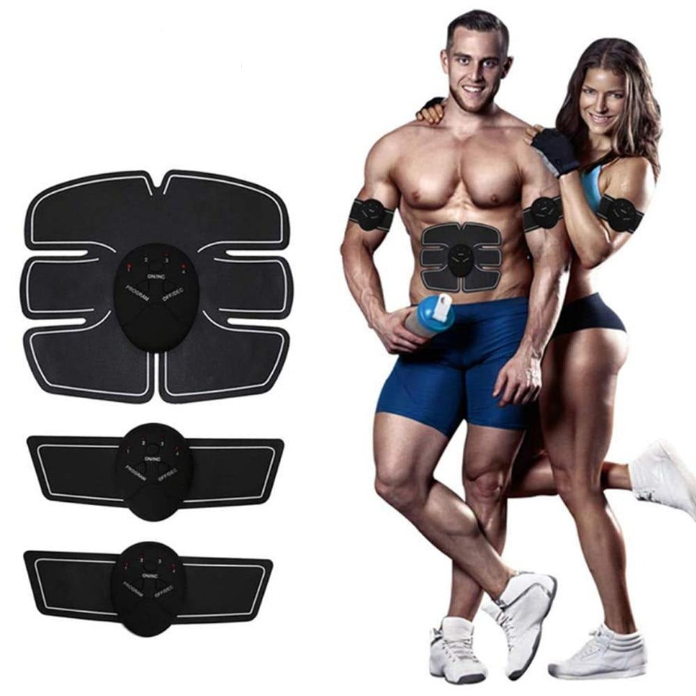 Fitness Abdominal Muscle Trainer EMS Electric Press Stimulator Slimming Machine - Gadget Homez
