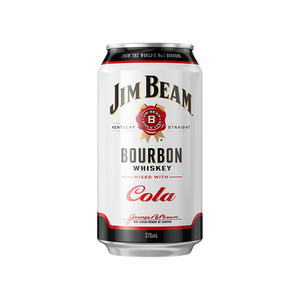 Jim Beam White Label Bourbon & Cola Cans 375mL