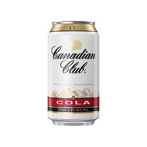 Canadian Club Whisky & Cola Cans 375mL