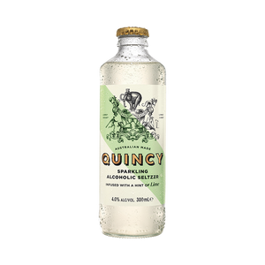Quincy Sparkling Alcoholic Seltzer Lime Bottles 300mL