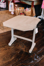 Load image into Gallery viewer, Hand-Painted, Detailed Side Table (Gray)