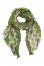 Load image into Gallery viewer, Harlow Wave Zig Zag Scarf