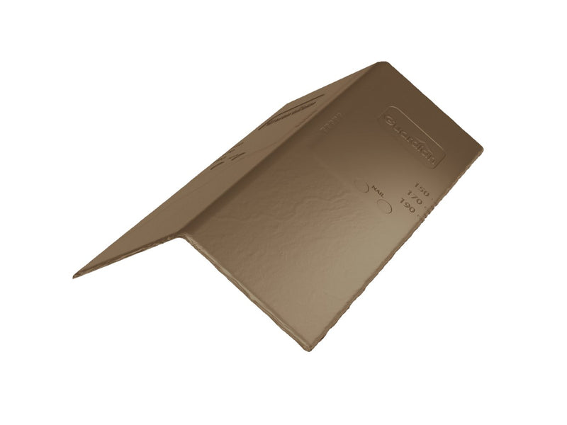 Guardian Synthetic Slate Ridge & Hip Tile - Brown (Pack of 24)