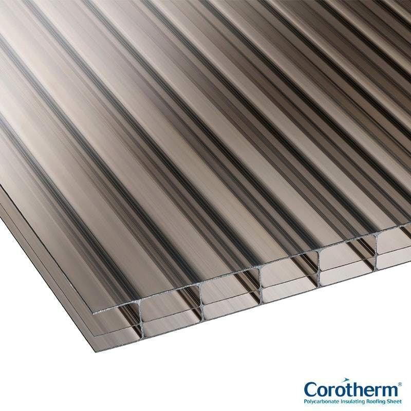 Corotherm Bronze 16mm Triplewall Polycarbonate Roof Sheet