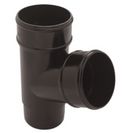 Plastic Guttering 68mm Round Down Pipe Bend 112° - Black - Mammoth Roofing