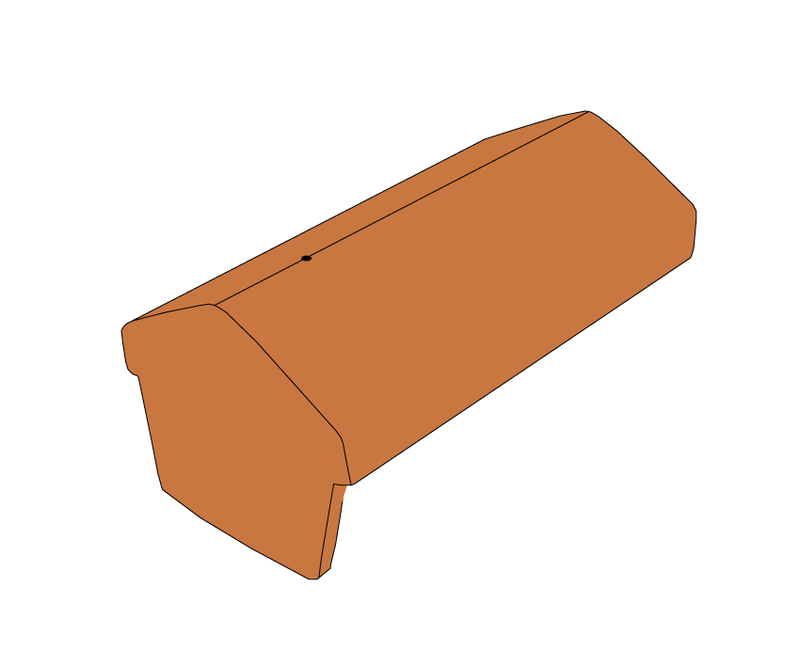 Russell Concrete Universal Angle Ridge Tile Block End - Mammoth Roofing