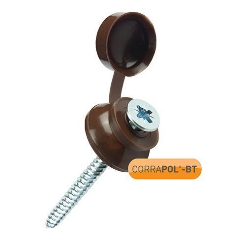 Corrapol-BT Brown 60mm Screw Cap Fixings