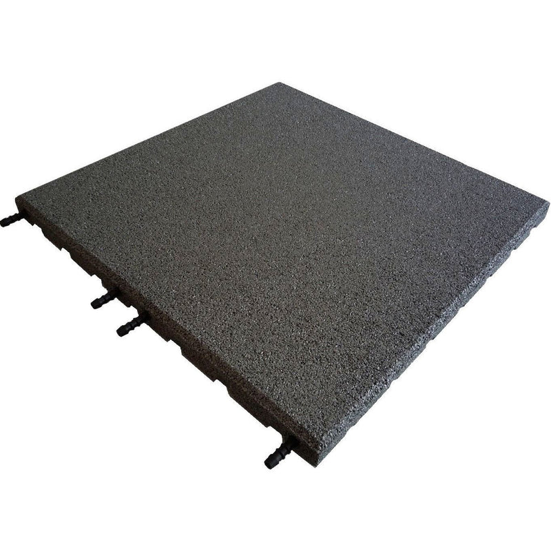 Castleflex Interlocking Rubber Promenade Tiles 500mm x 500mm - Charcoal Grey - Mammoth Roofing