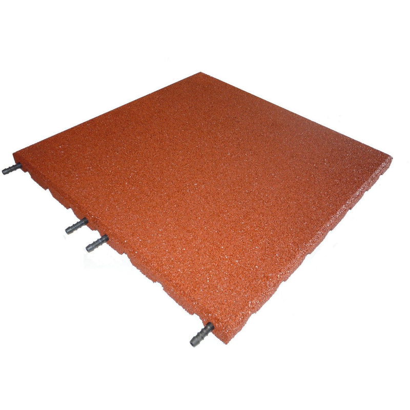 Castleflex Interlocking Rubber Promenade Tiles 500mm x 500mm - Rustic Red - Mammoth Roofing