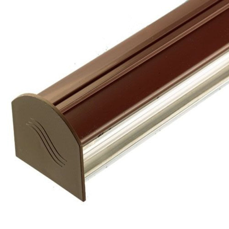 Corotherm Glazing Bar Cap and Base with End Cap - Brown - Mammoth Roofing