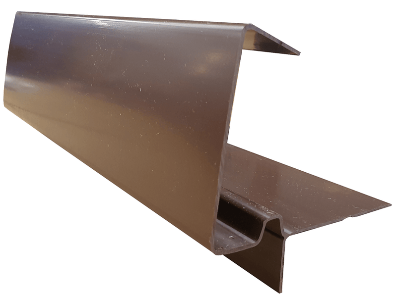 European Plastics PVC Continuous Dry Verge 'D' Type for High Profile Concrete Tiles - Mammoth Roofing