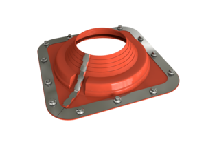 Dektite Combo Roof Pipe Flashing 108 - 190mm Red Silicone DC205REC