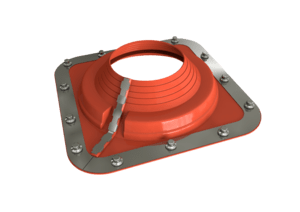 Dektite Combo Roof Pipe Flashing 350 - 760mm Red Silicone DC210REC