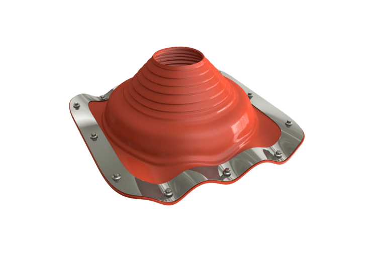 Dektite Premium Roof Pipe Flashing 170-355mm Red Silicone DFE208RE - Mammoth Roofing