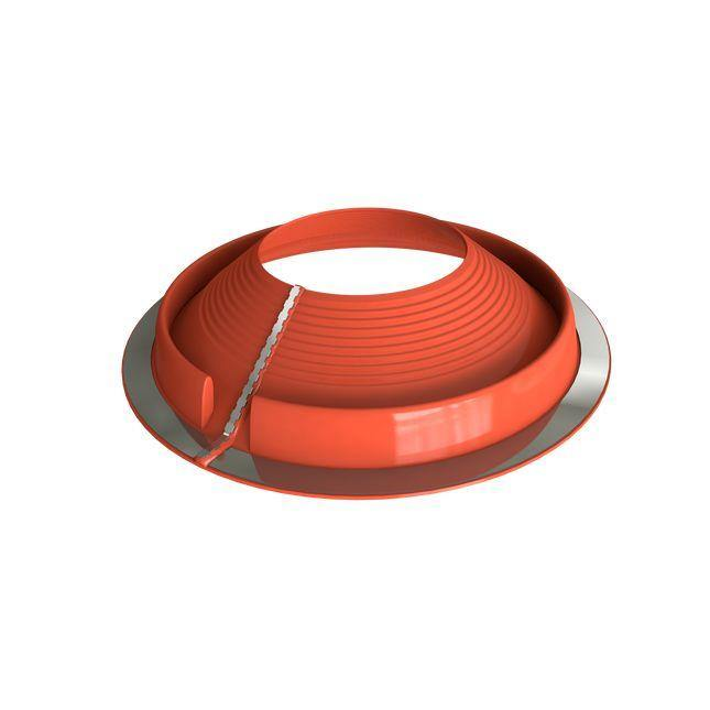 Dektite Retrofit Roof Pipe Flashing 85-255mm Red Silicone RF903RE