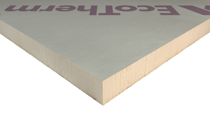 EcoTherm Eco-Versal General Purpose Insulation PIR Board 1.2m x 2.4m x 50mm