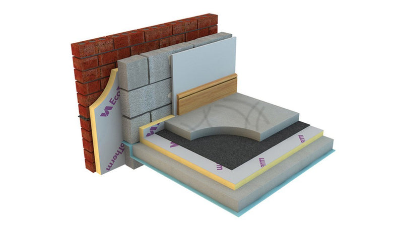 EcoTherm Eco-Versal General Purpose Insulation PIR Board 1.2m x 2.4m x 75mm - Mammoth Roofing