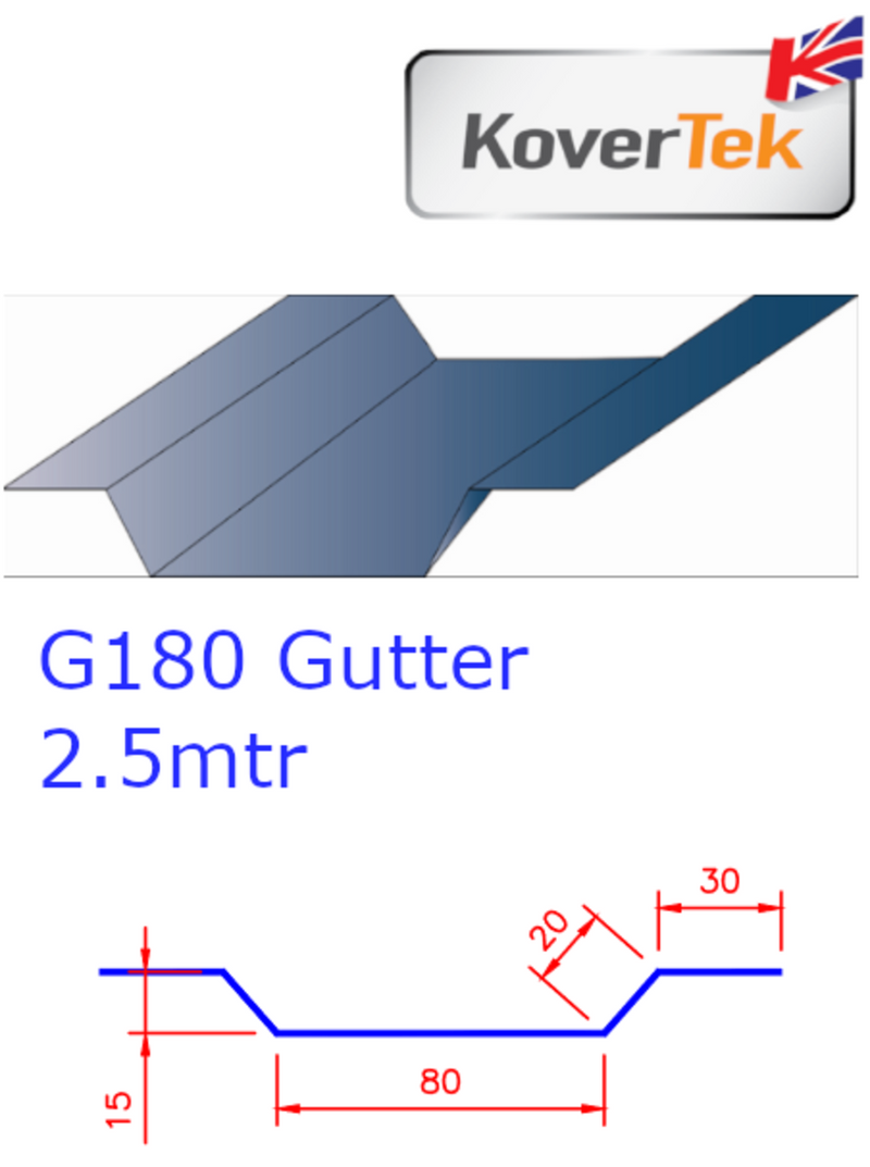 KoverTek G180 Mini Gutter Profile 2.5m