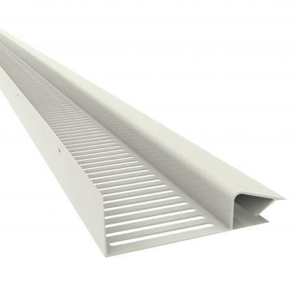 Manthorpe Continuous Soffit Vent White 25mm - Pack of 10 - Mammoth Roofing