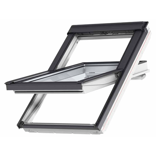 VELUX INTEGRA Solar GGU - White Polyurethane Solar Powered Centre Pivot Roof Window - Mammoth Roofing