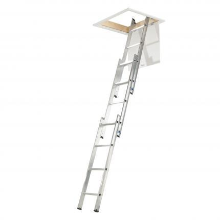 Manthorpe GLL257 Aluminium 3 Section Loft Ladder - 3m