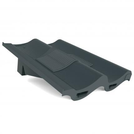 Manthorpe Double Pantile In-Line Roof Tile Vent - Grey