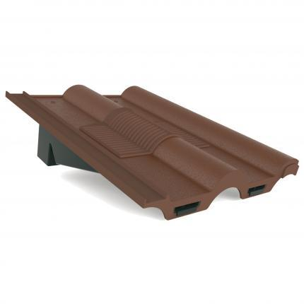 Manthorpe Double Roman In-Line Roof Tile Vent - Brown - Mammoth Roofing