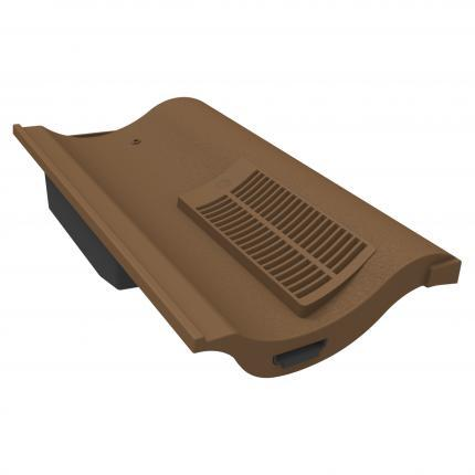 Manthorpe Single Pantile Roof Tile Vent - Brown - Mammoth Roofing