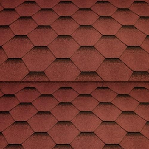 Katepal Super Katrilli Hexagonal Felt Roofing Shingles (3m2) - Red - Mammoth Roofing
